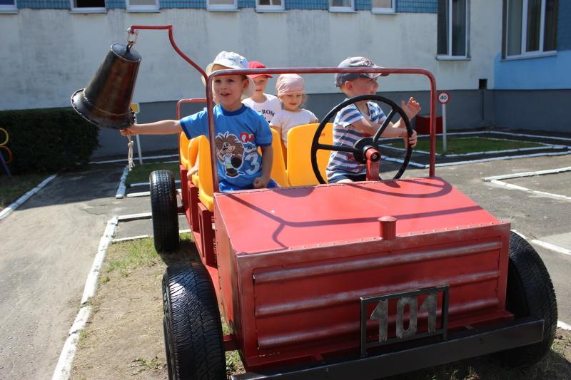 Собственная «пожарная машина» есть у брестского детсада
