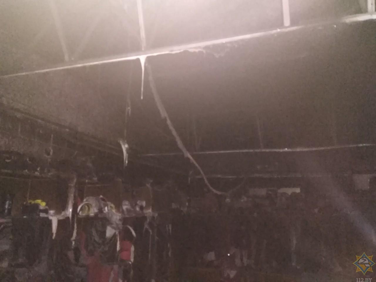 В ледовом дворце Бреста произошел пожар