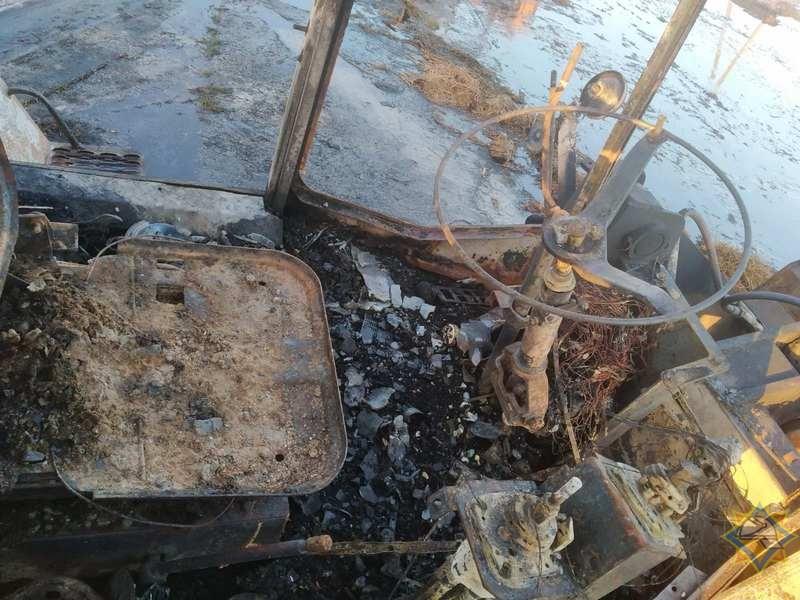 На пожаре в Лежайке (Пружанский район) уничтожена спецтехника