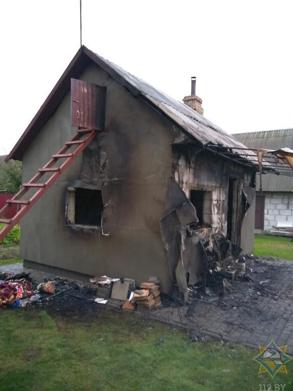 В Кобринском районе на пожаре погибла пенсионерка