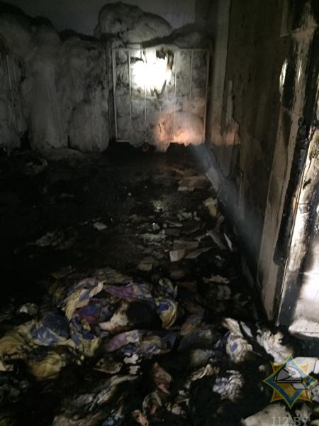 Опубликованы фото из прачечной, которая горела в Бресте