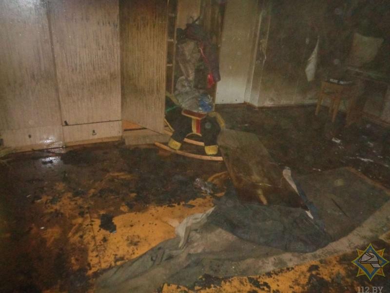 На пожаре а Барановичах погиб мужчина