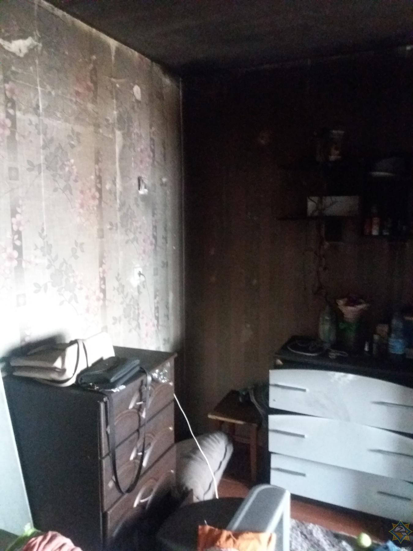 В Каменце при пожаре в общежитии пострадала женщина