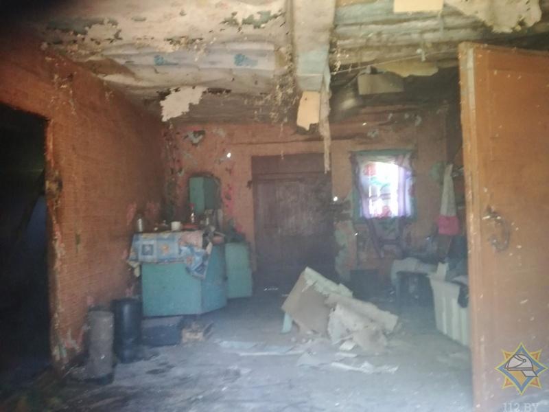 В Кобринском районе на пожаре спасен мужчина