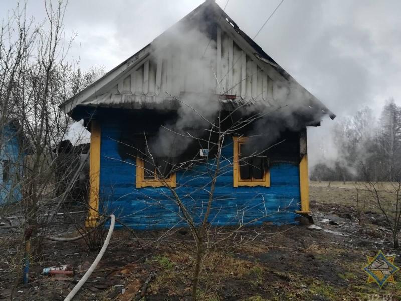 В Дрогичинском районе на пожаре погиб пенсионер