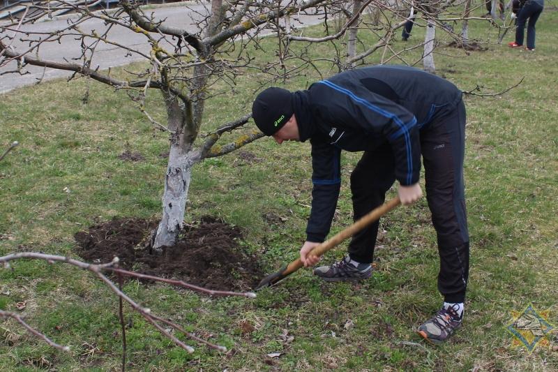 Работники Брестского областного управления МЧС приняли участие в субботнике