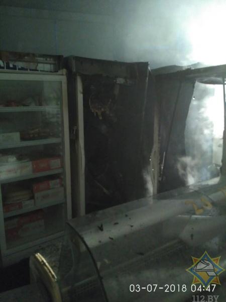О пожаре на территории ТУП «Брестский рынок» - официально