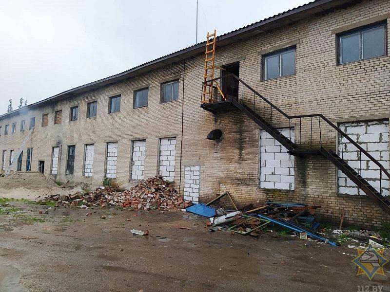 В Малоритском районе горело арендуемое здание