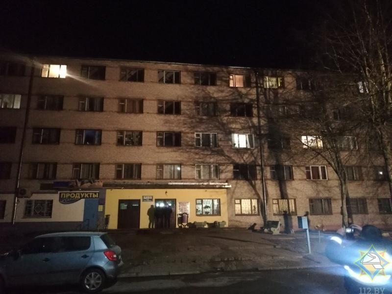 В Барановичах на пожаре в общежитии спасены женщина и ее сын